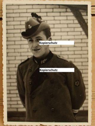 Portrait - Jäger / Jagdmeister ? - Kragenspiegel - Ärmelabzeichen - Schulterklappen Bild