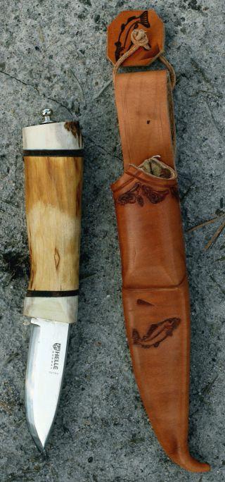 Jagd -,  Angler -,  Outdoormesser,  Helle /norway,  Handarbeit Bild