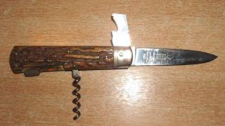 Puma 943 Mit Gebrochene Säge Altes Jagdmesser Taschenmesser Handarbei Solingen Bild