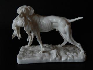 Jagdhund Mit Hase,  Alte Nymphenburg Figur Bild