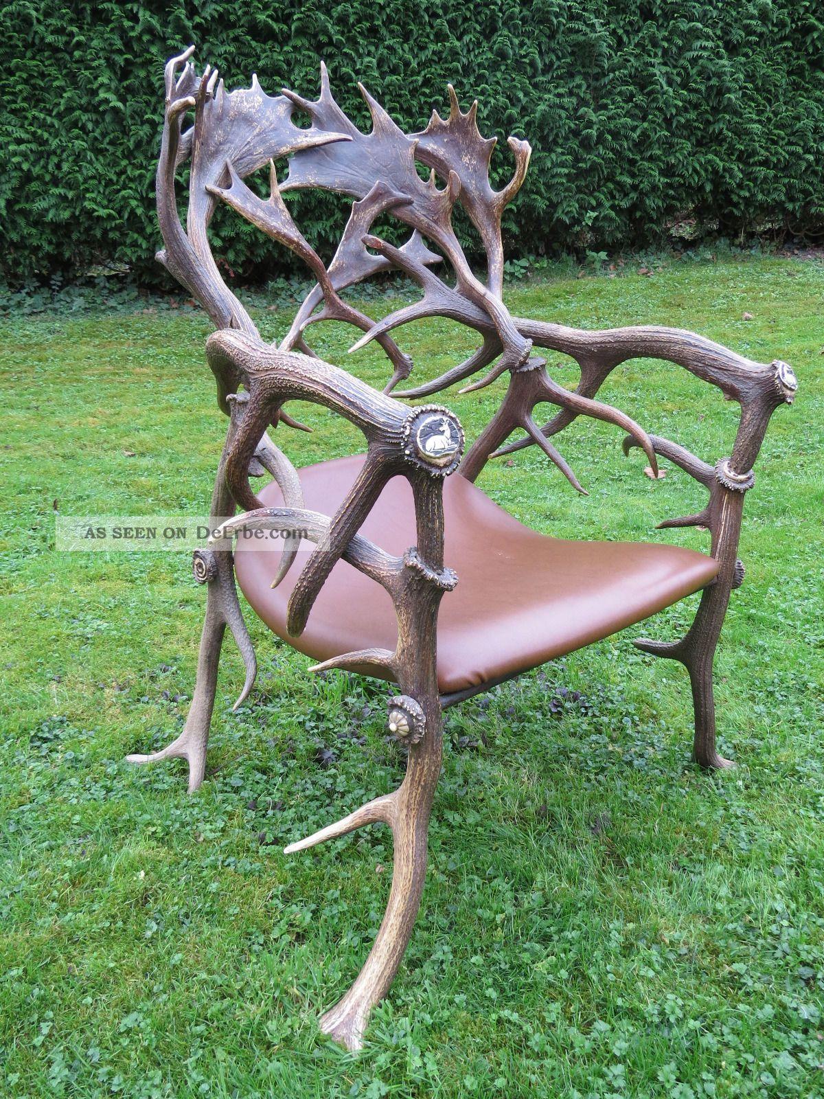 geweih stuhl geweihe rotwild damwild abwurfstangen j ger. Black Bedroom Furniture Sets. Home Design Ideas