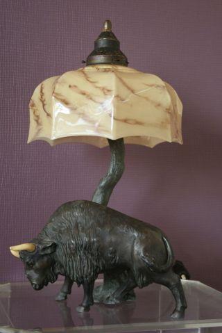 Tolle Tischlampe Um 1920/30 Art Deco