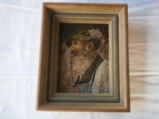 Ölbild Gemälde Waidmann Jäger Förster Signiert 1958 Alpen Jagdhaus Jagdzimmer Bild