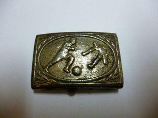 Sehr Alte Gürtelschnalle Metall Fußball Schließe,  Gürtelschloss,  Koppelschloss Bild