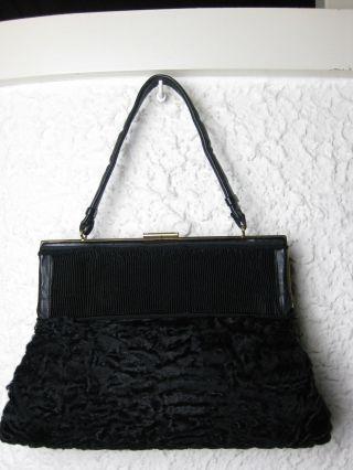 Wunderschöne Persianer Handtasche Und Muff Zugleich Bild