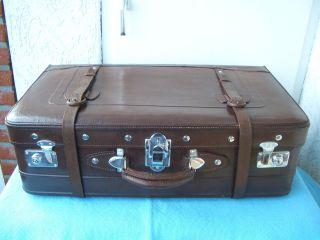 Leder Koffer Große Reisekoffer Oldtimer - Koffer Vintage. Bild