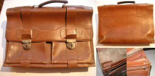 Schöne Alte Ledertasche,  Lehrertasche,  Echt Leder,  Sattlertasche, Bild
