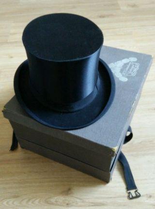 Chapeau Claque,  Klappzylinder Mit Schachtel Bild