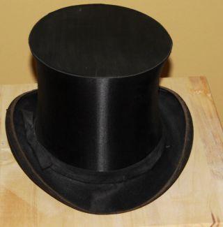 Zylinder Hut Schwarz Chapeau Claque Expostition Universelle 1900 Klappzylinder Bild