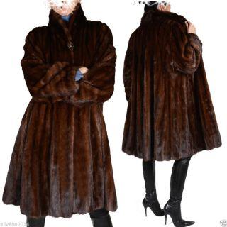 Echt Nerz Nerzmantel Swinger 220cm Saum Lang Pelz Mink Coat Demi Buff Winter Bild