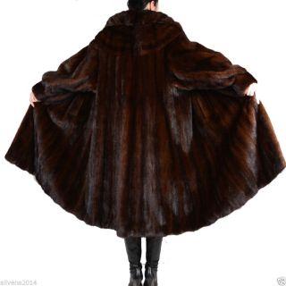 Demi Buff Nerz Nerzmantel Swinger 230cm Saum 128 Lang Pelz Mink Coat Winter Saga Bild