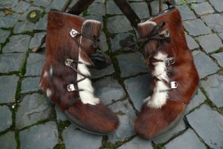 Kultige Boots Stiefel Mit Ponyfell Pony Gefüttert,  Gr.  36 Made In France Vintage Bild