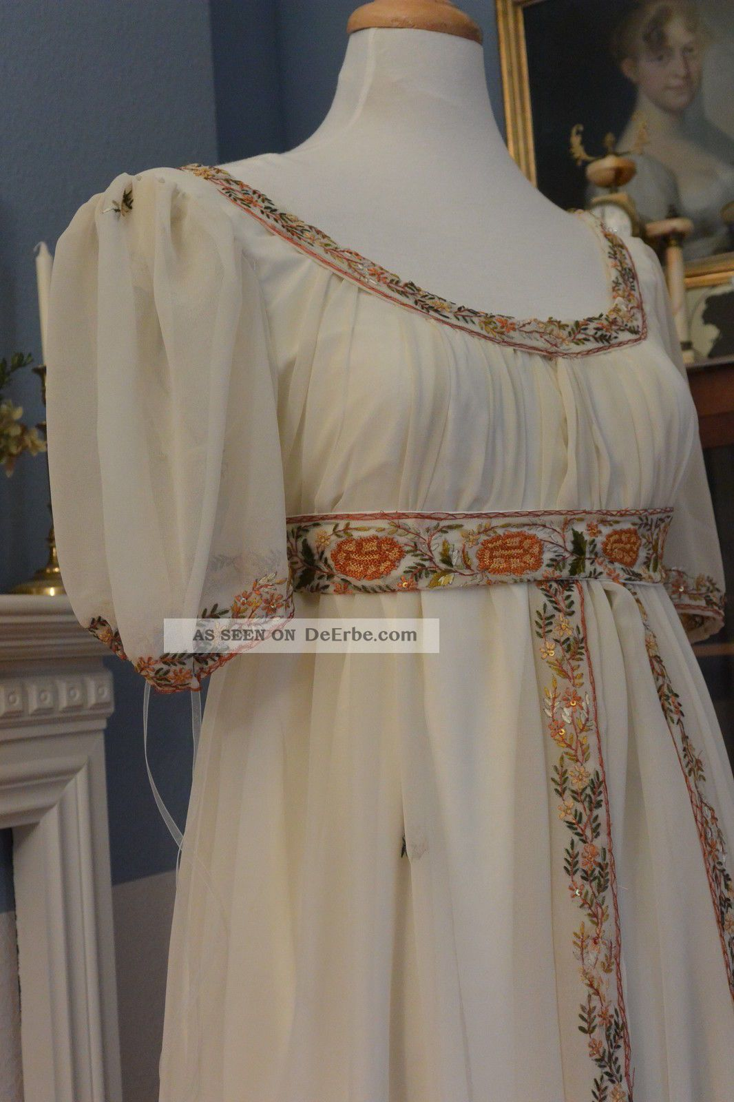 Empire Jane Austen 1800 1810 Kleid Kostüm Reenactment Napoleon Seide ...