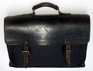 Posttasche Aktentasche Aus Alter Fabrik - Spaltleder - Schwere Qualität Bild