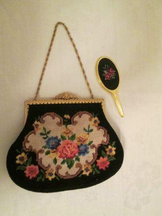 Gobelin Handtasche Mit Handspiegel Bild