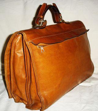 Vintage Tasche Echt Leder Bally Um 1980 Aktentasche Büro Uni Business Groß Bild