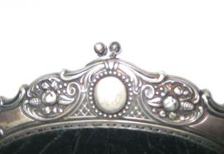 Schöne Alte Abendhandtasche/theaterhandtasche Jugendstil Samt,  Silber ? Um 1900 Bild
