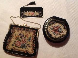 Gobelin Tasche Spiegel Schmuckkasten Schatulle Abentasche Täschchen Bild
