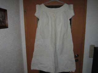 Antik Leinennachthemd über 100 Jahre Alt Handgemacht, Bild