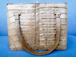 Antike Schöne Damenhandtasche Mit Kroko - Lederimitat / Schichtleder Bild