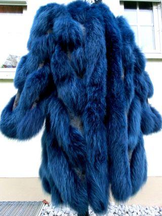 Luxus Polarfuchs Pelzmantel Polarfuchs In Blau Gr.  42/44@herrlicher Pelztraum@ Bild