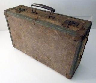 Kleiner Koffer,  Holz Metall Kroko - Look,  Metall Papier,  Frankreich Um 1920 Bild