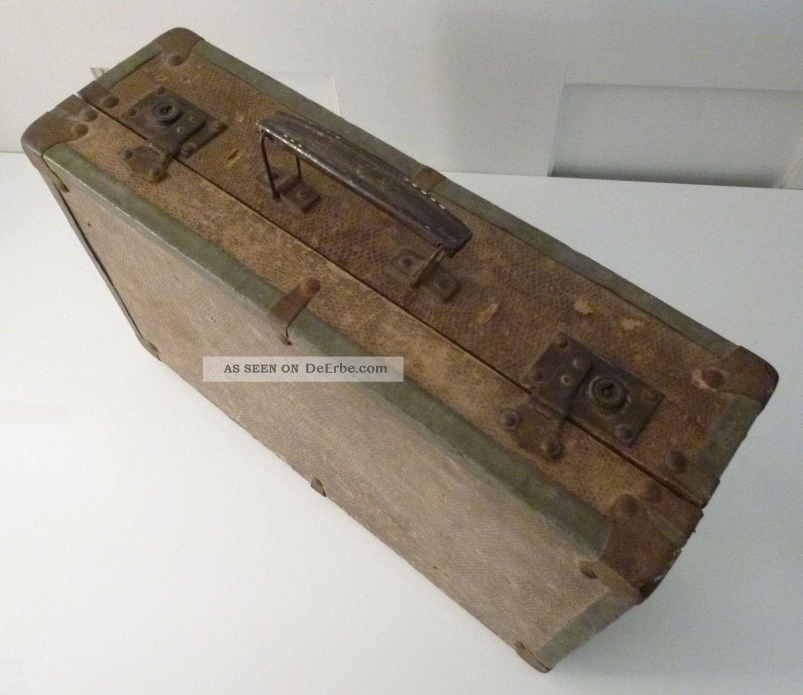 kleiner koffer holz metall kroko look metall papier. Black Bedroom Furniture Sets. Home Design Ideas