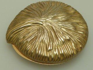 Art Deco Puderdose Guerlain Paris Metall Vergoldet Compact Bild