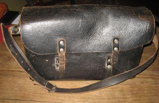 Alte Ledertasche - Schultasche - Werkzeugtasche Antik - Bergbau Bild
