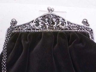 Tasche Mit 800er Silber - BÜgel Um 1900