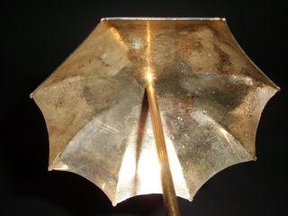 Ganz Süsser Kleiner Miniatur Schirm / Regenschirm / Silber Messing Umbrella Bild
