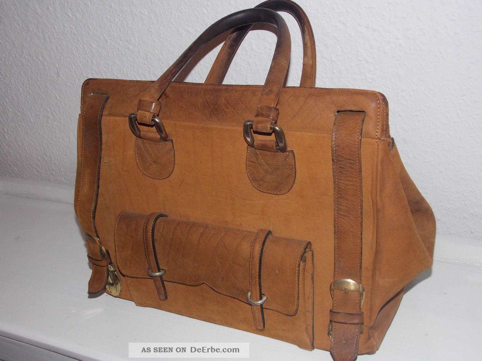best website bb42a 0b508 Vintage 40er 50er Jahre Alte Tasche Reisetasche Ledertasche ...