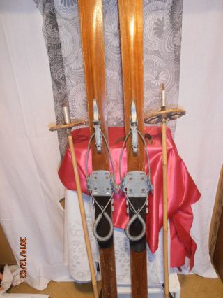 Ski Antik - - Sehr Alt 5ziger Jahre Inselberg - Bindung?plus 2 Stöck Bild