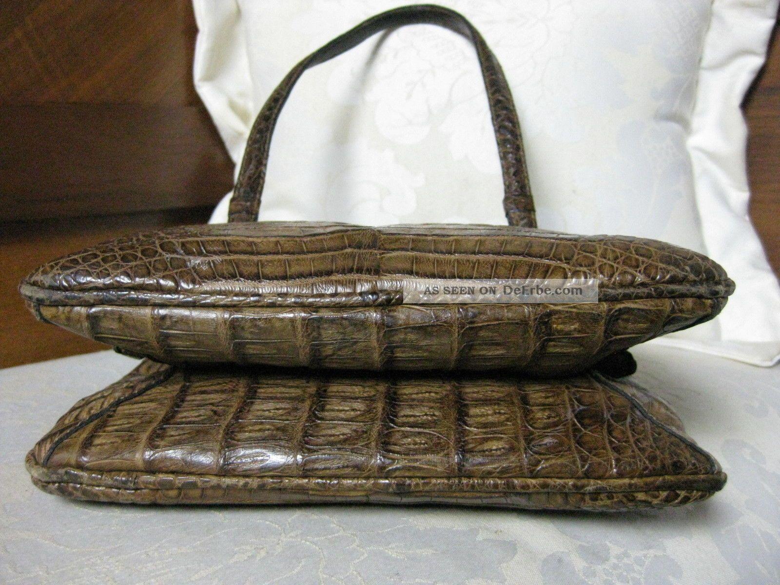 5992e9ffd90bf Schöne Echte Handtasche Tasche Kroko Ledertasche Sehr OrigJaguar dCBoxe