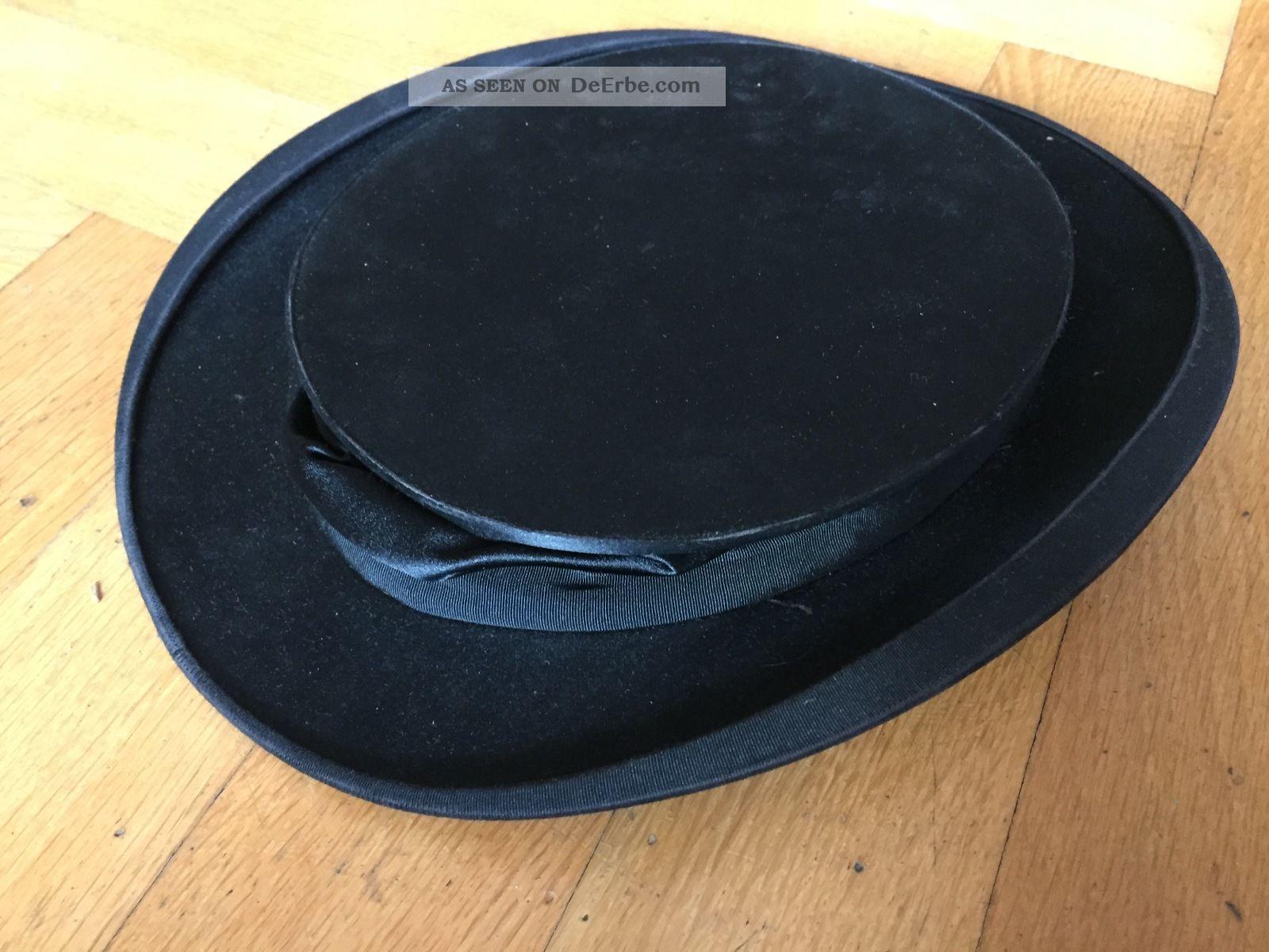 zylinder chapeau claque antik hoflieferant f reuter d sseldorf hut klappbar box. Black Bedroom Furniture Sets. Home Design Ideas