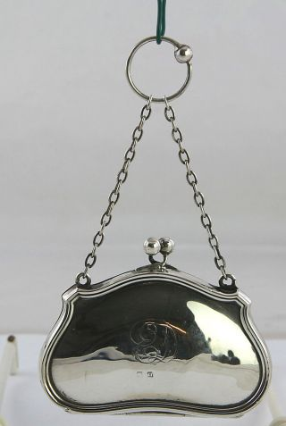 Jugendstil Portmonee,  Geldbörse Sterling Silber England Um 1900 Bild