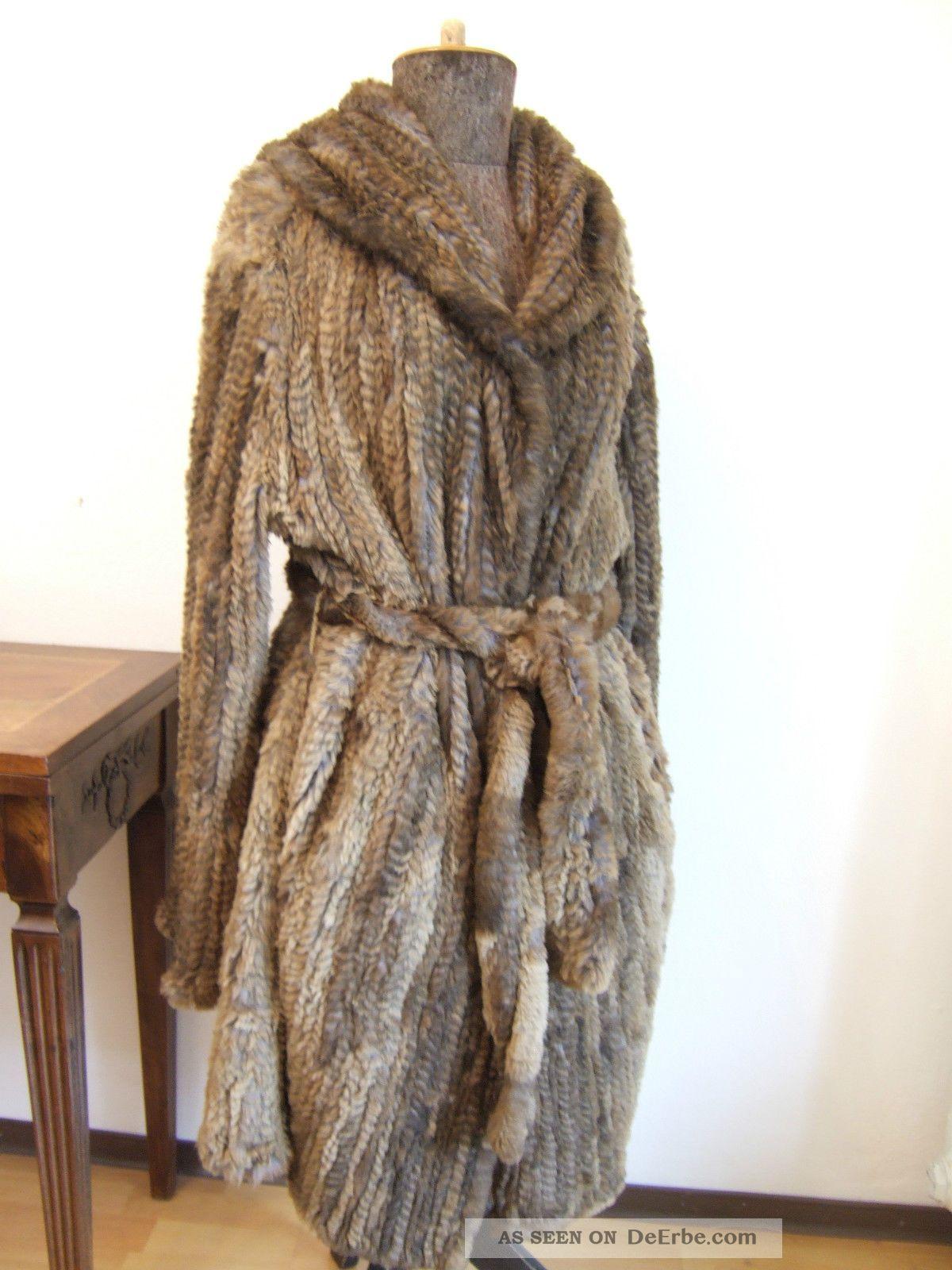echter damen kaninchenfell pelz mantel jacke mit kapuze. Black Bedroom Furniture Sets. Home Design Ideas