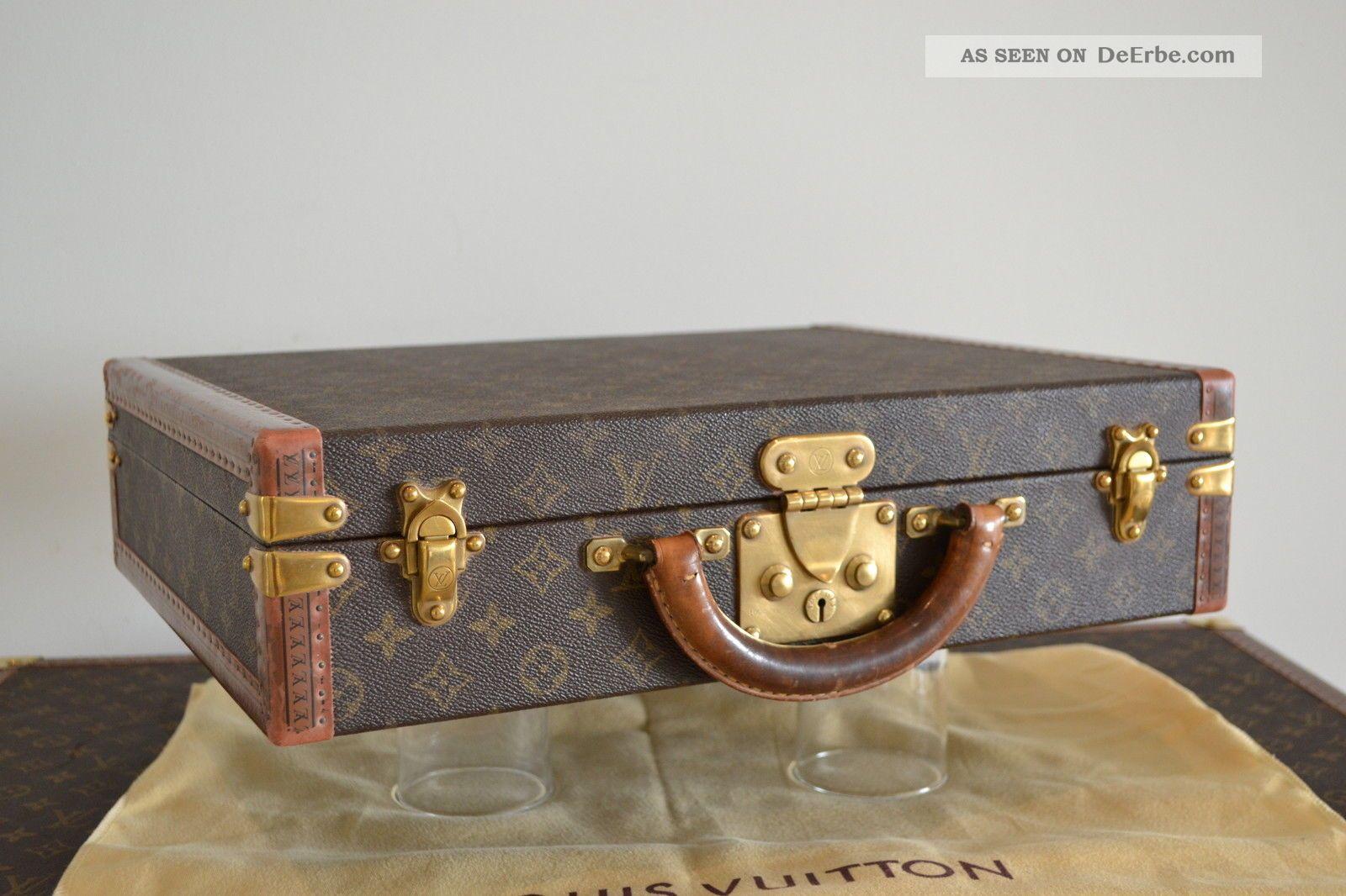 louis vuitton aktenkoffer pr sident classeur monogram canvas m53012 lv. Black Bedroom Furniture Sets. Home Design Ideas