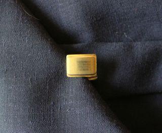 Manschettenknöpfe Goldfarben Riffelmuster Ca.  50er Jahre Bild