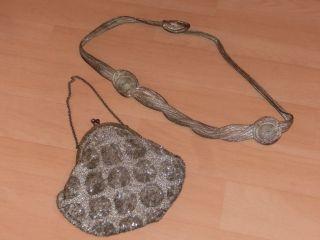 Alte Handasche/operntasche/ Geldbörse Und Gürtel,  Jugendstil Bild