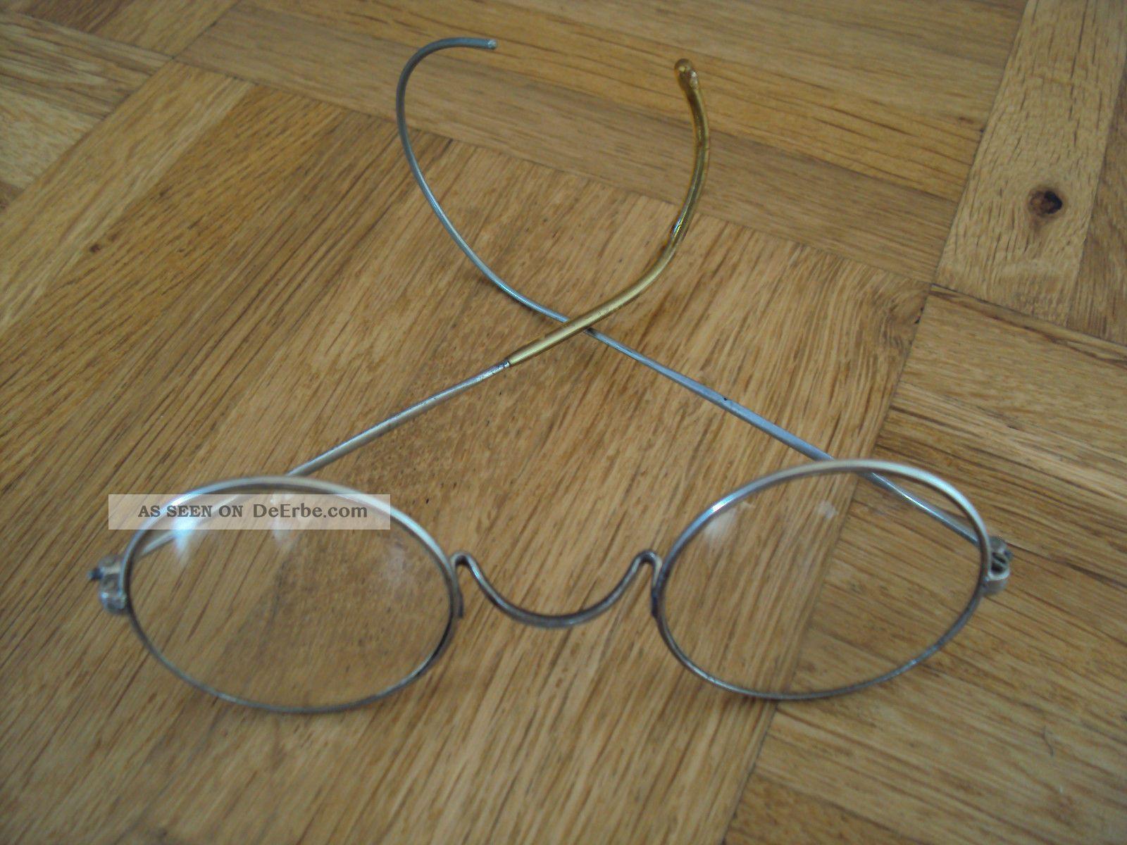 Antike Brille Rundbrille Von Ca. 1920