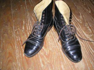Shabby Antike Schuhe Gr.  41 Schwarz Stiefel Shoemaker´s