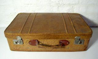 Leder Reise Koffer Oldtimer Oldschool Rockabilly Vintage 50er Bild