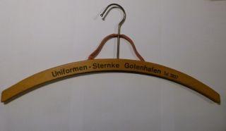 Alter Holz - Kleiderbügel Holzbügel Uniformen Sternke Gotenhafen Gdynia Ca.  1938 Bild