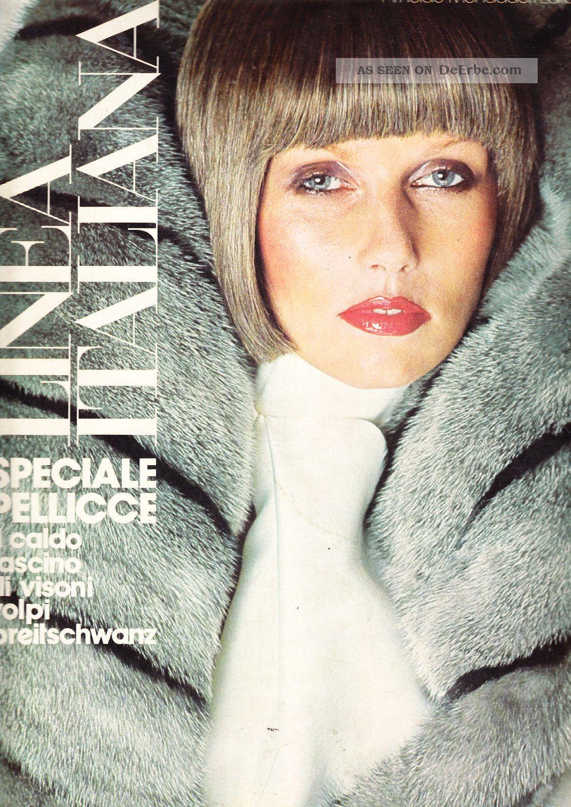 Linea Italiana Settembre 1973.  Pelze.  Furs.  Fourrure.  Speciale Pellicce. Kleidung Bild