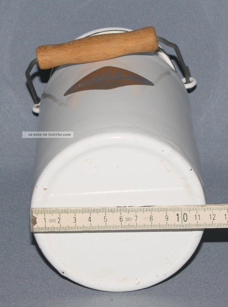Alte Landhaus Emaille Milchkanne Ca 2 Liter Mit Henkel