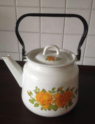 Teekessel Teekanne Aus Emaile (aus Russland) Bild