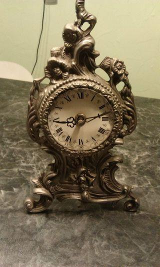 Kaminuhr,  Zinn Uhr,  Tischuhr,  Sammlerstück,  Alt Antik Edel Barockstill Zinn Bild