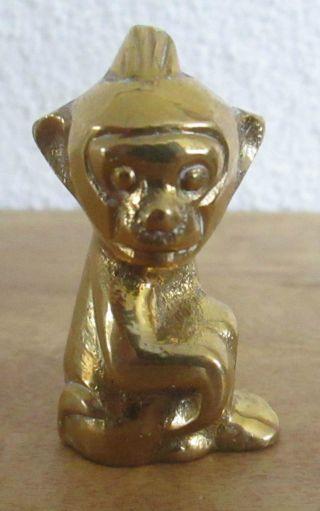 Alte Massive Sehr Schöne Bronze Messing Figur Skulptur Affe Sehr Schwer Vitrine Bild
