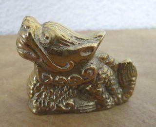 Alte Massive Bronze Messing Figur Skulptur Chinesischer Löwe Sehr Schwer Bild